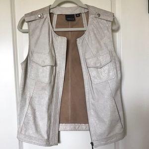 Trouve Genuine Leather Vest